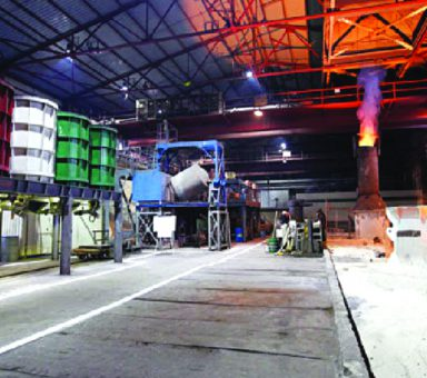 Modernization of the electric	steel-making shop No1 mold	yard to produce ferromolybdenum