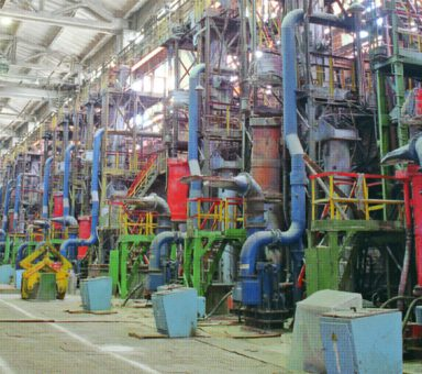 Reconstruction of electric arc furnace shop No. 5 with installation of vacuum-arc furnace and vacuum-induction furnaces.