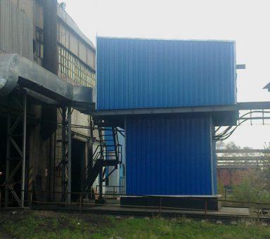 Приточная станция здания вагоноопрокидывателей 2,3 углеподготовительного цеха коксохимического производства.