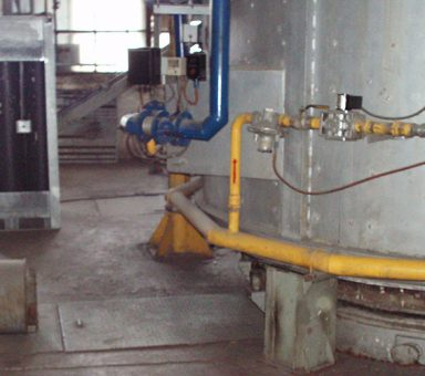 Modernization of steel-wire shop No 2. Installation of the bell-typefurnace.